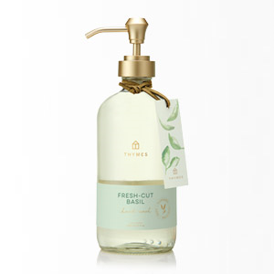 Thymes Fresh-Cut Basil hand wash 15oz