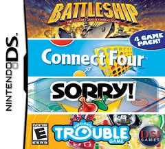 Battleship / Connect Four / Sorry / Trouble - Nintendo DS