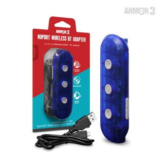 NuPort Wireless BT Adapter For Nintendo Switch®/ PC Compatible With GameCube®/ Wii®/ Super NES® Classic Edition/ NES® Classic Edition Controllers - Armor3