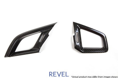 Revel GT Dry Carbon Fiber Air Conditioning A/C Vent Covers - Honda Civic (2016-2018)