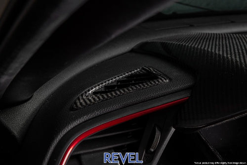 Revel GT Dry Carbon Fiber Defroster Garnish Covers Set - Honda Civic (2016-2018)