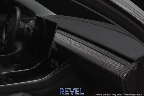 Revel GT Dry Carbon Fiber 1 Piece Front Center Panel - Tesla Model 3 (2017-2020)