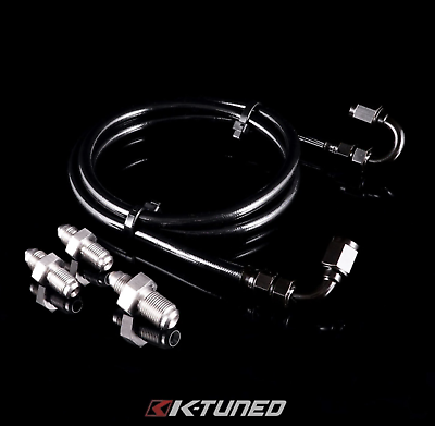 K-Tuned Stainless Steel Clutch Line Kit - Honda Civic w/ K Swap (1992-2000)