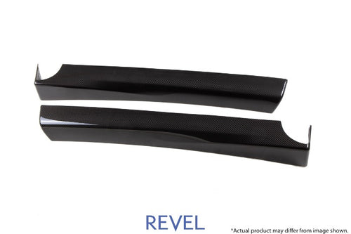 Revel GT Dry Carbon Fiber Door Trims Front Left & Right - Tesla Model 3 (2017-2020)