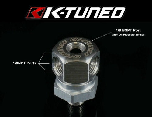 K-Tuned Oil Pressure Sensor Adapter - 1/8 BSPT Thread