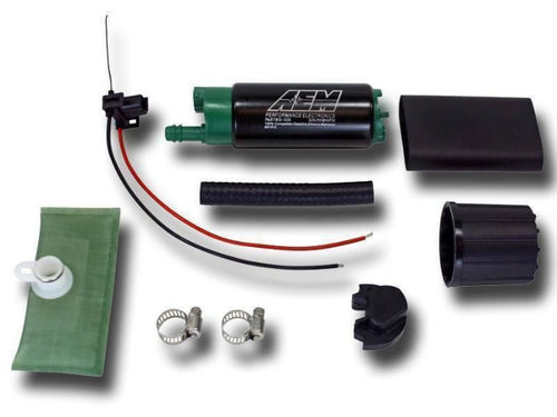 AEM Performance E85 340LPH High Flow In Tank Fuel Pump Universal Offset Inlet