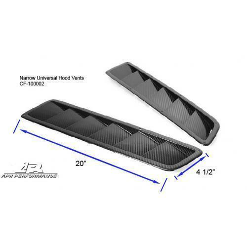 APR Performance Carbon Fiber Universal Narrow Long Hood Cooling Vents Pair - Universal