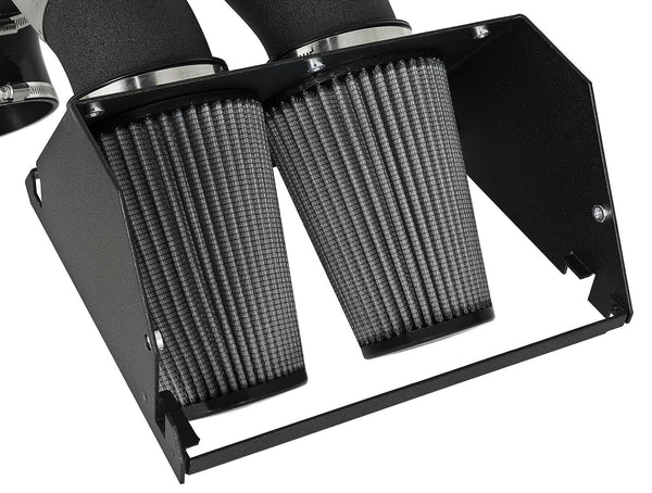 "aFe Magnum Force 3-1/2"" Stage 2 Pro Dry S Cold Air Intake Super Raptor 17+ Black"