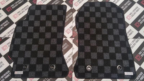Phase 2 Motortrend (P2M) Checkered Race Carpet Floor Mats - Subaru BRZ (2013+)
