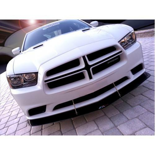 APR Performance Carbon Fiber Front Wind Splitter w/ Rods - Dodge Charger R/T SXT (2011-2014)