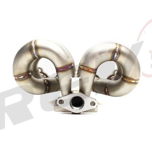Rev9 Power HP Ram Horn Equal Length T3 Turbo Manifold Header - Honda Civic CRX D15 D16