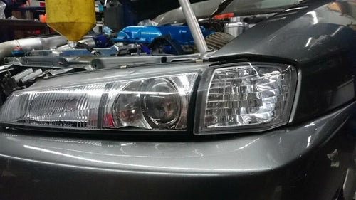 Phase 2 Motortrend (P2M) Clear Front Side Corner Lights - Nissan 240SX S14 Kouki (1997-1998)