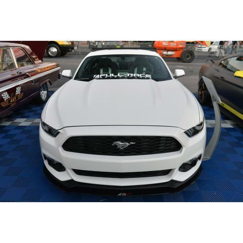 APR Performance Carbon Fiber Front Wind Splitter w/ Rods - Ford Mustang W/O Performance Package (2015+)