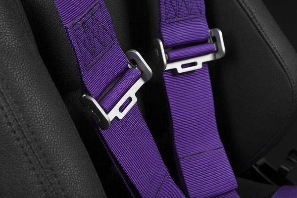 "Braum Racing 5 Point 3"" Inch SFI Certified 16.1 Racing Harness - Purple"