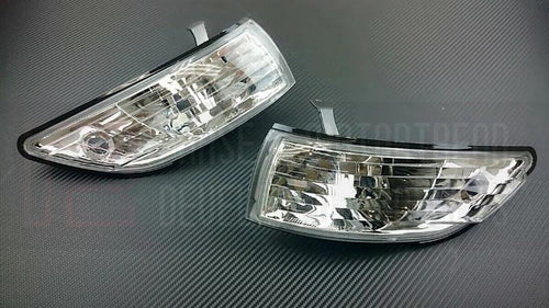 Phase 2 Motortrend (P2M) Clear Front Side Corner Lights - Nissan 240SX S13 Silvia Front End