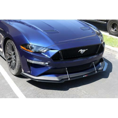 APR Performance Carbon Front Wind Splitter w/ Rods - Ford Mustang w/ Performance Package (2018-2019)