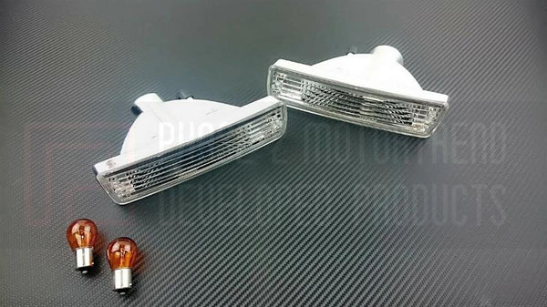 Phase 2 Motortrend (P2M) Clear Front Turn Signal Lights - Nissan 240sx S13 Silvia Front End