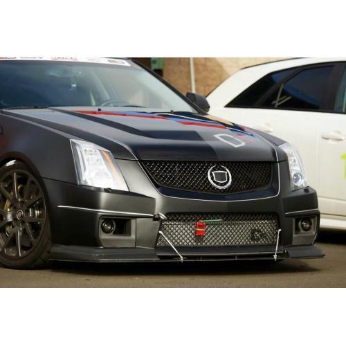 APR Performance Carbon Fiber Front Wind Splitter w/ Rods - Cadillac CTS-V (2008-2015)