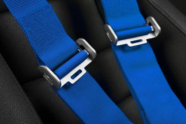 "Braum Racing 5 Point 3"" Inch SFI Certified 16.1 Racing Harness - Blue"