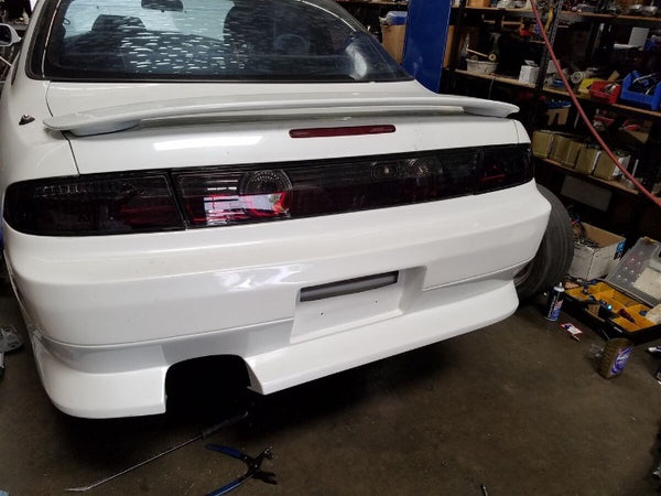 Phase 2 Motortrend (P2M) 3pc Crystal Clear Smoked LED Rear Taillights - Nissan 240sx S14 (1995-1998)