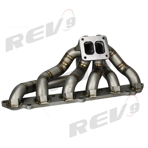 REV9 HP Equal Length T4 Top Mount Turbo Exhaust Manifold Header - Toyota Supra 7MGTE JZA7