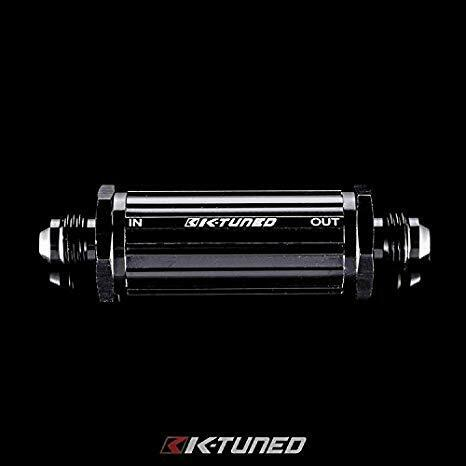 K-Tuned 40 Micron Fuel Filter Inline -6AN E-85 Compatible - Universal