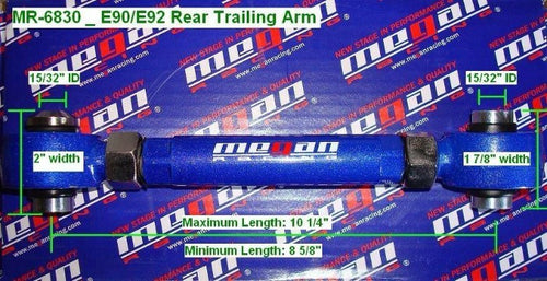 Megan Racing Rear Trailing Control Arms - BMW 1 Series 128i 135i E82 E87