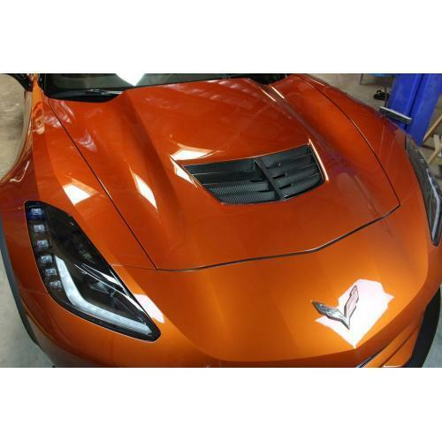 APR Performance Carbon Fiber Cooling Hood Air Vent - Chevrolet Corvette C7 Z06 (2015-2019)