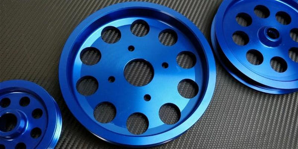 Phase 2 Motortrend (P2M) 3pc Aluminum Pulley Kit - Nissan Skyline RB25