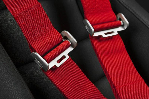 "Braum Racing 5 Point 3"" Inch SFI Certified 16.1 Racing Harness - Red"