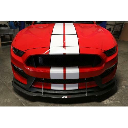 APR Performance Carbon Fiber Front Wind Splitter w/ Rods - Ford Mustang Shelby GT350 (2016-2017)