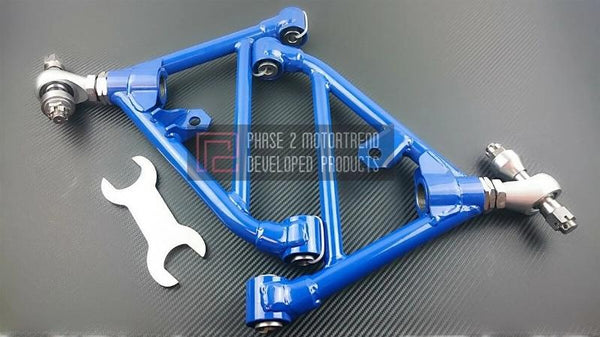 Phase 2 Motortrend (P2M) Adjustable FRONT & REAR Lower Control Arms - Nissan 240sx S14 (1995-1998)