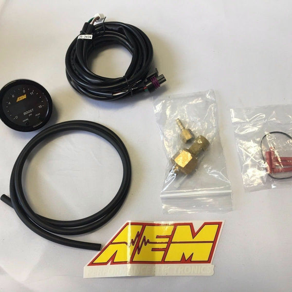 AEM X-Series DIGITAL Boost Pressure Display TURBO Gauge -30inHg~35psi 2.5 Bar