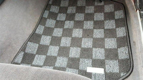 Phase 2 Motortrend (P2M) Checkered Race Carpet Floor Mats (Dark Grey) - Nissan 240sx S14 (1995-1998)