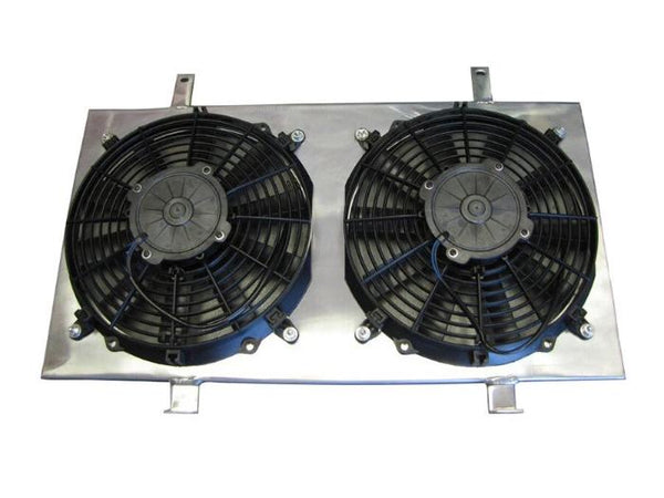 "ISR Performance Radiator Fan Shroud Kit & Dual 12"" Fans - Nissan 240sx S14 KA24DE"