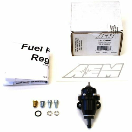 AEM Performance Black Adjustable Fuel Pressure Regulator FPR - Acura B18 Engine