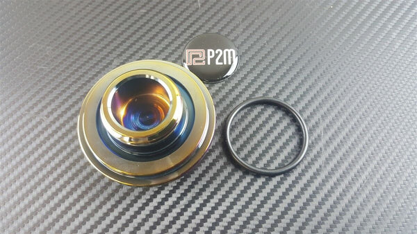 Phase 2 Motortrend (P2M)  Phase 2 Round Neo Chrome Engine Oil Filler Cap Universal For Toyota Non Clip
