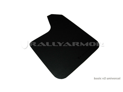 Rally Armor Basic UNIVERSAL Black Mud Flaps w/ Black Logo Lettering Set of 4 New
