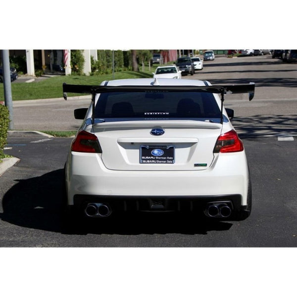 "APR Performance Carbon Fiber 67"" GTC-300 Adjustable Rear Wing Spoiler - Subaru WRX (2015+)"