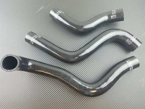 Phase 2 Motortrend (P2M) 3 Ply Silicone Reinforced Black Radiator Hoses - Mazda RX-8 13B (2004-2008)