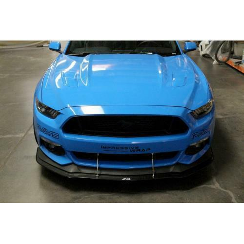 APR Performance Carbon Front Wind Splitter w/ Rods - Ford Mustang w/ Performance Package (2015-2017)
