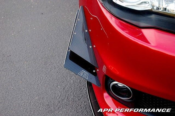 APR Performance Carbon Fiber Front Bumper Canards Set - Mitsubishi Lancer Evolution EVO 8 VIII (2003-2005)