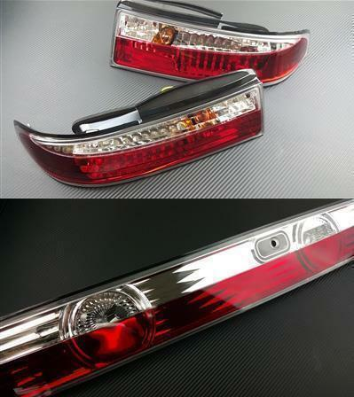 Phase 2 Motortrend (P2M) Crystal Clear LED 3pc Rear Taillight Kit - Nissan 240sx S14