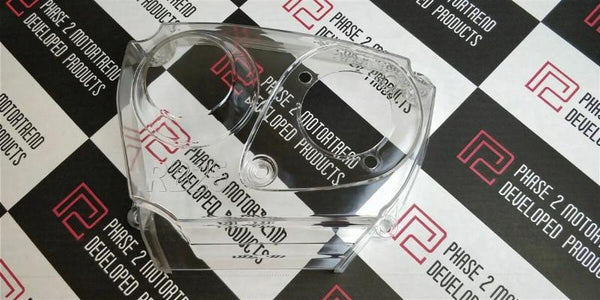 Phase 2 Motortrend (P2M) Clear Acrylic Timing Belt Cover - Nissan R32 R33 R34 RB25DET