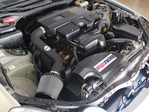 HPS Performance Shortram Cold Air Intake Kit Installed Lexus 2001-2005 GS300 3.0L 827-260
