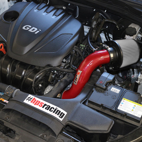 HPS Performance Shortram Cold Air Intake Kit Installed Kia 2011-2015 Optima 2.4L 827-267