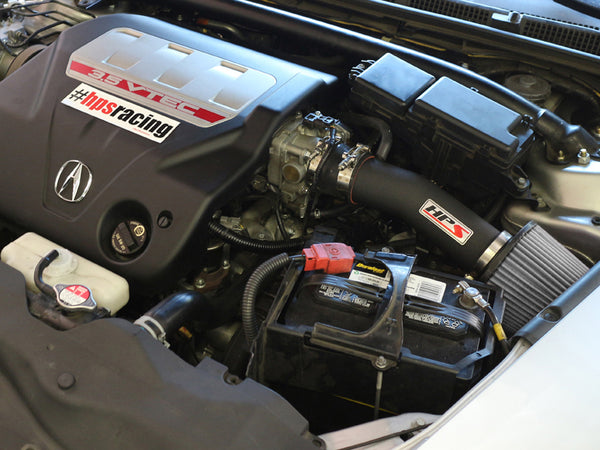 HPS Performance Shortram Cold Air Intake Kit Installed Honda 2003-2007 Accord 3.0L V6 827-275