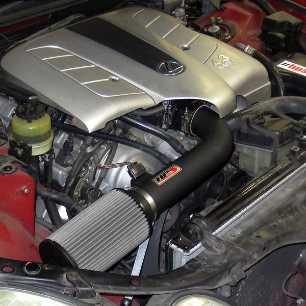 HPS Performance Shortram Cold Air Intake Kit Installed Lexus 2001-2005 GS430 4.3L V8 827-503