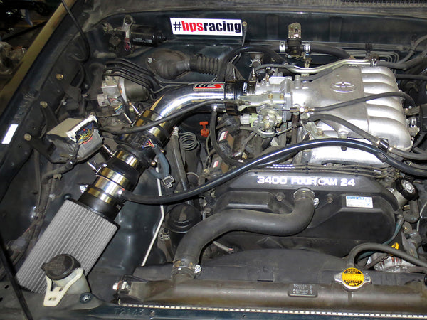 HPS Performance Shortram Cold Air Intake Kit Installed Toyota 1996-1998 Tacoma 3.4L V6 827-507