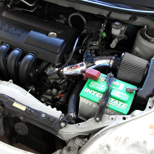 HPS Performance Shortram Cold Air Intake Kit Installed Toyota 2003-2004 Matrix XR 1.8L 827-513